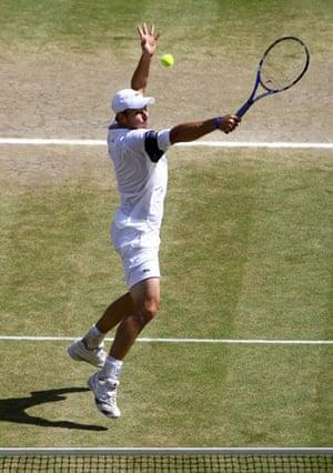 Tennis: Andy Roddick of the U.S.