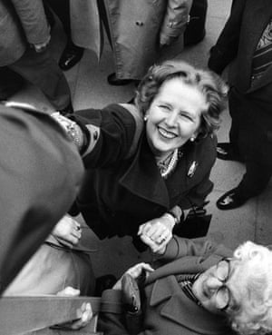 Margaret Thatcher: 1984: Margaret Thatcher shakes someone's hand at the Liverpool Festival