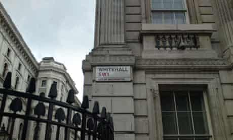 Whitehall in central London. Photograph: Paul Owen.