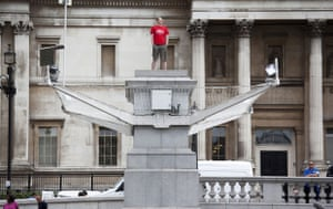 Trafalgar plinth: Jason Clark, the second participant in One & Other