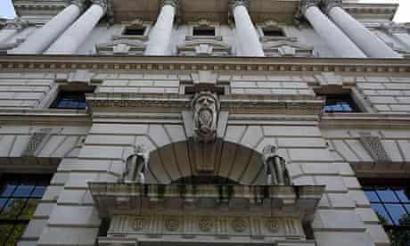 The Treasury building, Whitehall, London