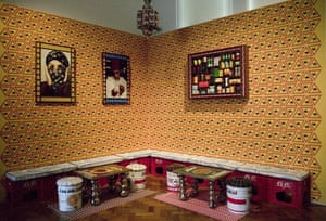 Jameel prize: Le Salon (2009) detail, by Hassan Hajjaj