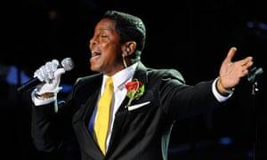 Jermaine Jackson at the service