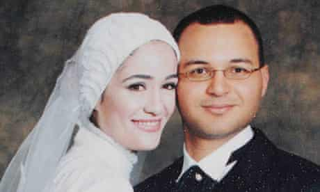 Egyptian Marwa El Sherbiny and her husband