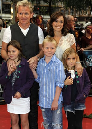Harry Potter premiere: Harry Potter premiere: Gordon Ramsey and family