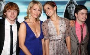 Harry Potter premiere: Harry Potter premiere: Rupert Grint, Rowling, Emma Watson, Daniel Radcliffe