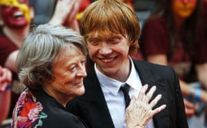 Harry Potter premiere: Harry Potter: Maggie Smith and Rupert Grint