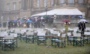 heavy rain royal garden party