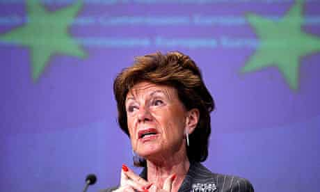 European commissioner for competition Nellie Kroes