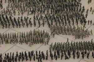 Urumqi: Soldiers gathering