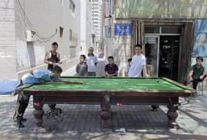 Dan Chung in Urumqi: Playing pool in Urumqi