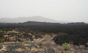 Volcanic landscape in Afar, Ethiopia