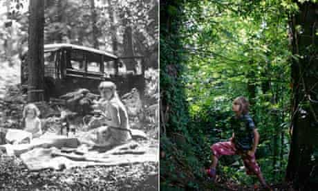 Woodland scenes in Britain 1935 and 2009