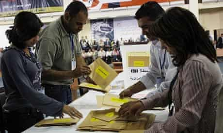 The ballot count at the Fatah conference in Bethlehem