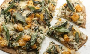 Swiss chard, squash and blue cheese tart