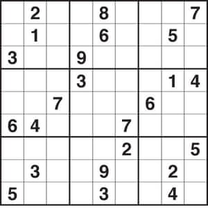 This is an image of Selective Printable Sudoku Puzzles Hard