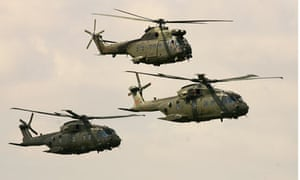 RAF helicopters