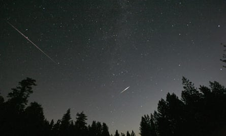 Meteors from the Perseid shower