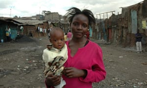 Regina Wanza and child in Nairobi