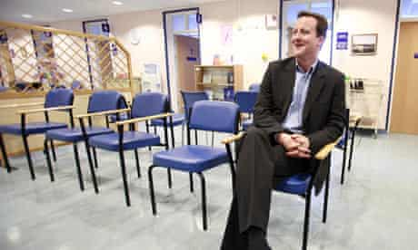David Cameron visiting the Princess of Wales hospital in Ely in 2007.
