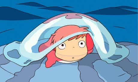 A scene from Ponyo, Hayao Miyazaki's latest animé release.
