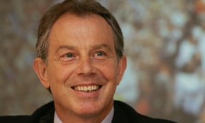 Tony Blair, well known for his 'miracle-tan'
