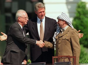 Israel-Palestine timeline: 1993: President Clinton presides over the signing of the 1993 peace accord