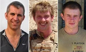 Mark Hale, Matthew Hatton and Daniel Wild, British soldiers killed in Afghanistan