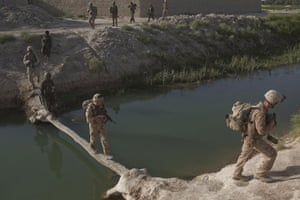Sean Smith in Afghanistan: 21 July 2009: British troops and US Marines accompany Afghan troops