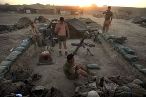 Sean Smith in Afghanistan: 19 July 2009: US troops from 2nd Marine Expeditionary Brigade
