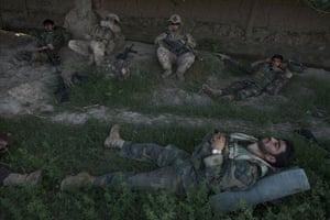 Sean Smith in Afghanistan: 21 July 2009: US Marines accompany Afghan National Army troops on a patrol