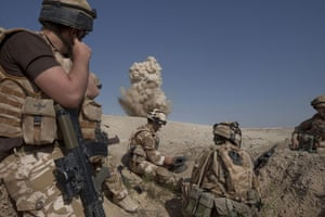 Sean Smith in Afghanistan: 25 June 2009: A controlled explosion of 8 IEDs found near FOB Wahid