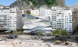 Sketch of the museum planned for the site of Help in Rio de Janeiro