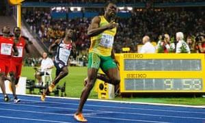 Usain Bolt at the World Championships