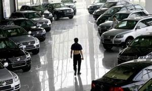 Volkswagen showroom in Beijing