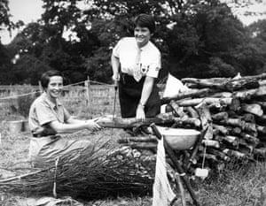 Girl guides 100th: 1957: Girl Guides world camp, Windsor Park