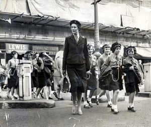 Girl guides 100th: 1961: Girl Guides lead By Captain M Bayliss