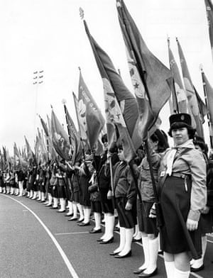 Girl guides 100th: 1985: 75th Anniversary of the Girl Guides at Crystal Palace