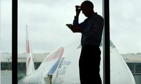Alain de Botton at Heathrow Airport