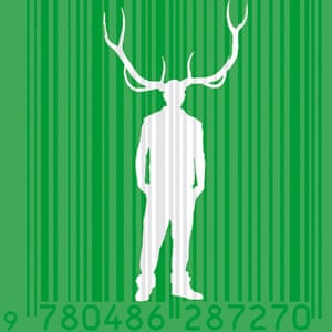 Barcoded man with horns