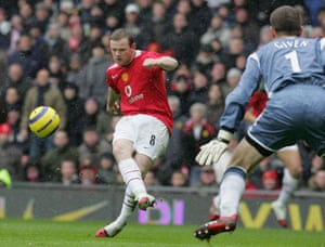Wayne Rooney Top Ten: Wayne Roone scoops a chip over Shay Given