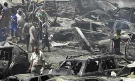 Baghdad truck bomb aftermath