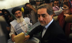 Abdullah Abdullah casts his ballot