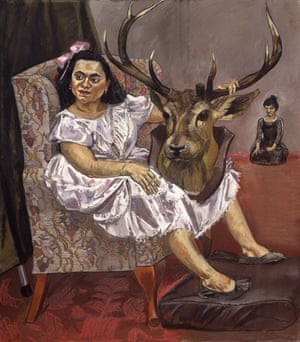 Paula Rego: Snow White playing with her father's trophies, 1995