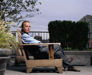 Martin Amis at 60: 2003: Writer Martin Amis on Roof