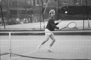 Martin Amis at 60: 1990: Martin Amis playing tennis