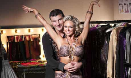 Joe Calzaghe and Kristina Rihanoff contestants on Strictly Come Dancing