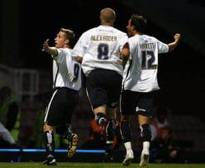 West Ham v Millwall: Millwall's Neil Harris puts the Lions ahead.