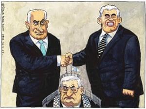 26.08.09: Steve Bell on Gordon Brown's meeting with Binyamin Netanyahu at Downing Street