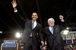 Edward Kennedy: 2008: Senator Barack Obama and Senator Edward Kennedy
